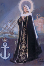 Pintura estandarte conmemorativo 250 aniversario de la Armada-Soledad de Félix Revello