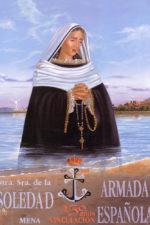 Cartel del 25 aniversario de la vinculación de la Virgen de la Soledad con la Armada española