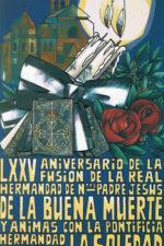 Cartel del 75 aniversario de la Congregación de Mena